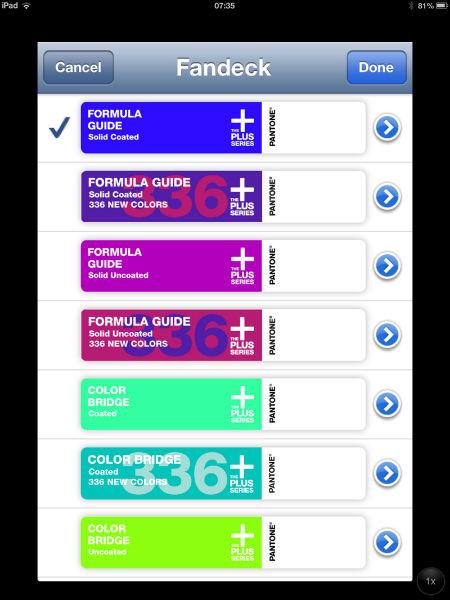 Dinamiweb pantone app para iphone ipad y android for App para disenar muebles ipad